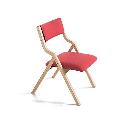 Wohnzimmer Outdoor Klappstuhl (YFF ~ Mode Sitz Stuhl Red Massivholz Klappstuhl Moderne Haushalt Esszimmer Stuhl Schreibtisch Stuhl Rückenlehne Stuhl Computer Stuhl / Einziehbar / sparen Platz für Küche Heim und Kommerz)