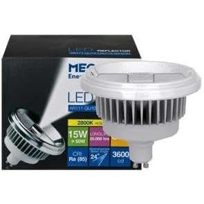 Lampe à LED, GU10/230V/15W-4000K, MEGAMAN, LED AR111