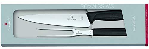 Victorinox Swiss Classic Set de 2 Service à découper Mixte, Beige/Argent, 30 x 5 x 5 cm