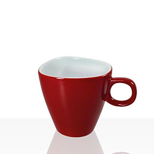 Alfredo Walküre Milchkaffee-Tasse, 6 Stk, rot