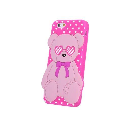 "BACK CASE 3D Liebe Teddybär Love Bear Für Apple iPhone 6 4,7"" Apple iPhone 6S Apple iPhone 6 Silikonhülle Hülle Etui Flip Cover Silikon Tasche (blau / blue) rosa / pink"