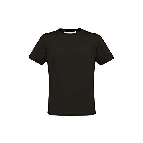 B&C Herren Biosfair T-Shirt, Kurzarm Schwarz