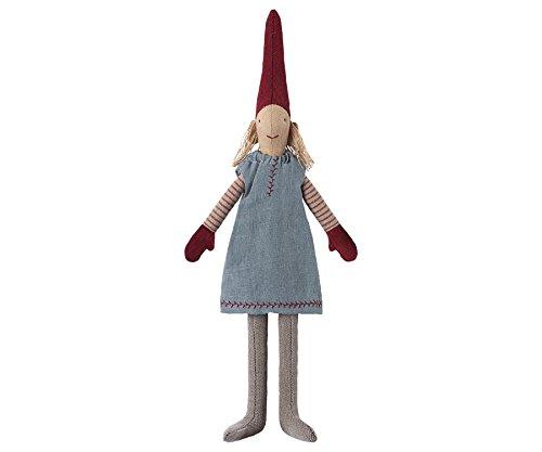 (Maileg–Danish lisvs Pixy 2017–Mini 30cms–'Elf auf einem Regal'–Mädchen–Blau Kleid)
