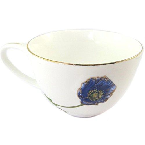 Les Trésors De Lily [P2823 - Becher Porzellan 'Jardin des Plantes' elfenbeinblau. Jardin Tee