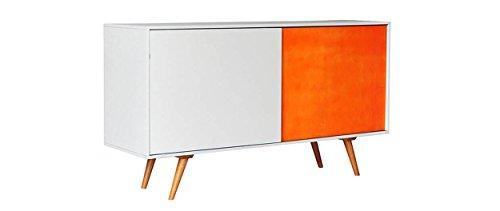 Buffet commode Madia en bois avec 2 portes coulissantes Par le design moderne