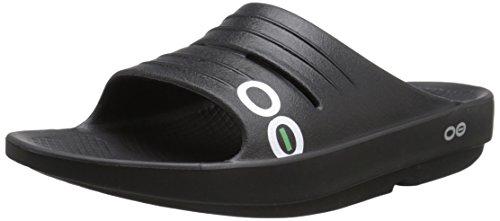 OOFOA|#OOfos Damen Oolala Slide Sport-& Outdoor Sandalen Schwarz (Black)