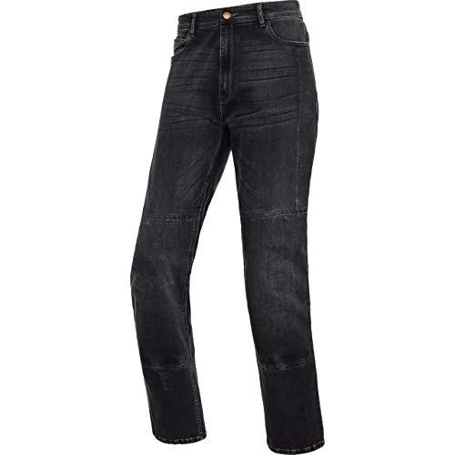 DXR Motorrad Jeans, Motorradhose Aramid-/Baumwolljeans 1.0, Motorradhose Jeans Herren, Taschen für Hüft- und Knieprotektoren, 5 Außentaschen, Baumwolle, Aramid, Grau, 34/34