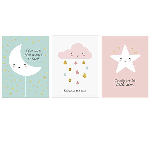 Fran Juego 3 pósteres habitación Infantil Dibujos