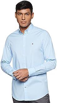 Tommy Hilfiger Mens Core Stretch Slim Poplin Shirt Casual Shirt