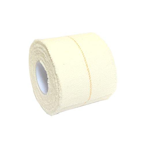 1Rolle 5cm x 4,5m qualicare Pro Latex elastischer Klebstoff Bandage Athletic Sport Rugby Lifting Fußball Knie Ellenbogen Knöchel Gelenk Unterstützung Tape Straping weiß -