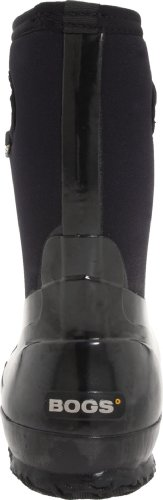 Bogs Womens Classic Mid Handle 60156 Rubber Boots Black