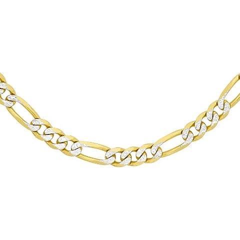 Carissima Gold - Collana Figaro 9 ct in 2 tonalità di oro, grande
