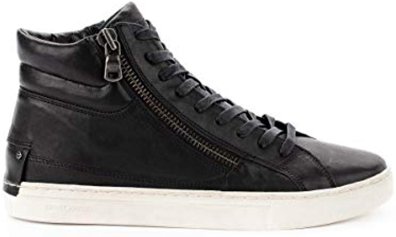 Crime Crime Crime London Hi Top scarpe da ginnastica Uomo 11327AA120 Pelle Nero | Eccellente valore  | Uomo/Donne Scarpa  9d9dea