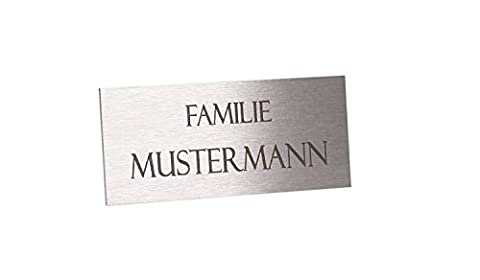 Economical Door Name Plaque/Sign for Letterbox Stainless Steel 8 x 3.5cm, E.g.