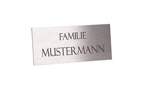 Namensschild Edelstahl mit Gravur thumbnail