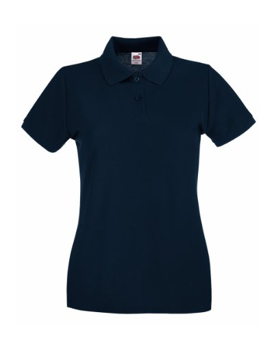 Fruit Of The Loom Lady-Fit Premium Polo Shirt 40,Blau - Deep Navy