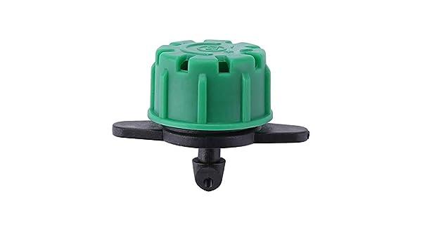 Starnearby 50 pezzi 8 fori di irrigazione regolabile a goccia Micro Flow per spruzzatori da giardino