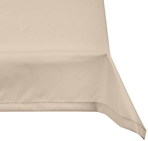 beo Table d'extérieur Plafond rectangulaire imperméable, 76 x 76 cm, Beige