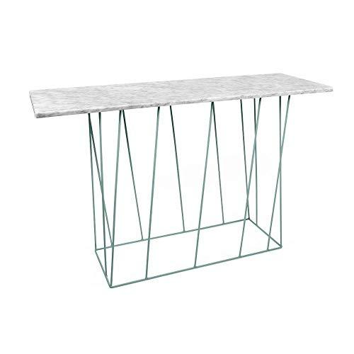 TemaHome Console Design Helix en marbre Blanc Structure laquée Verte