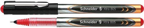 Schneider Xtra 805 Tintenroller (Röhrchenspitze aus Edelstahl, 0,5 mm) 10er Packung rot