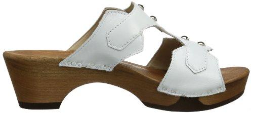 Woody Leonie, Mules femme Blanc - Weiß (Nappa Weiß)
