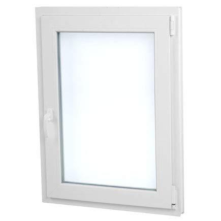 finestra pvc 70 cm x 100 cm   regalo staffe di montaggio   bianco   aperture a vasistas   elevato isolamento termico e acustico   pratico   resistente al sole   apertura a destra