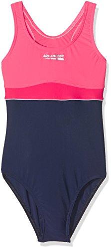 """Aqua Speed 5908217641069 Badeanzug """"Emily"""" für Mädchen in Marineblau und Korallenrot, in verschiedenen Farben erhältlich, Größe 134"""