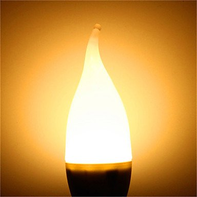 FDH 1 pcs E14 3 W 10 SMD 300 lm / blanco cálido, blanco frío una vela decorativa lámparas 100-240 V CA,blanco cálido.