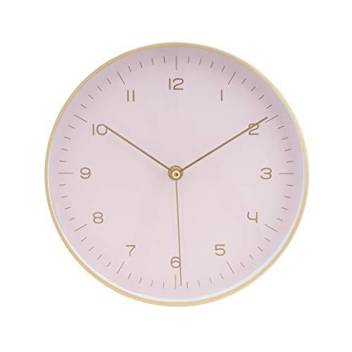 LUUK LIFESTYLE hochwertige, Schlichte Nordic Design Minimal Quarz Wanduhr mit Sekundenzeiger, Küchenuhr, Wohnzimmer Uhr, Büro Wanduhr Flur, pink