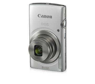 Canon IXUS 185 20MP Digital Camera with 8X Optical Zoom (Silver) + Memory Card + Camera Case