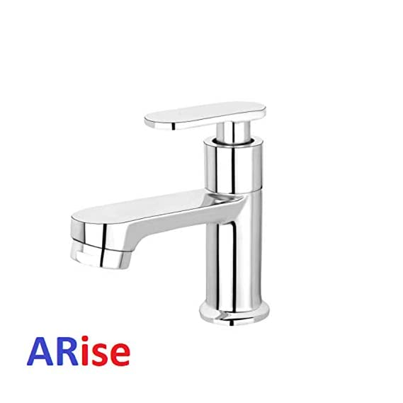 JAGGER Pillar Cock Chrome Plated Brass Tap for Bathroom Kitchen Washbasin Sink (CR002) With FREE Flange and Teflon tape