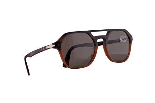 Persol 3206-S Sonnenbrille Blaugestreift Orange Mit Grauen Gläsern 51mm 1066R5 PO 3206S PO3206S PO3206-S