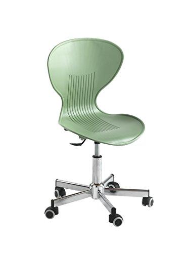 Giessegi job 8265, sedia pvc con rotelle, salvia, 46x40x92 cm