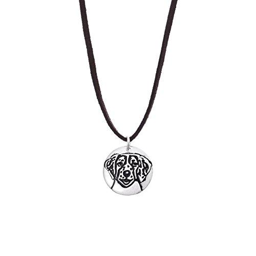 Unisex Samt Schnur Halsreif Dalmatinischen Anhänger Halskette (Dalmatiner Kit)