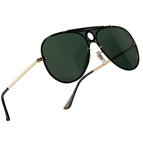 NWOUIIAY Gafas de Sol de Moda Hombre Deportivas de Lentes Polarizadas para Bloquear 100% de las Radiaciones Dañinas UVA, UVB y UVC Lentes de Sol de Marco de Aluminio de Aleación de Magnesio