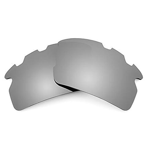 Verres de rechange Revant polarisés Titanium pour Oakley Flak 2.0 Vented