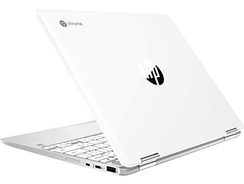 HP Chromebook 12b-ca006TU x360 Thin and Light Touchscreen 12-inch Laptop (4GB/64GB eMMC SSD + 100GB Cloud Storage/Chrome OS/Intel UHD Graphics), Natural Silver Image 2