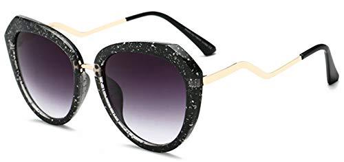 LKVNHP Mode Katzenaugen -Sonnenbrille Frauen Vintage -Sonnenbrillen weiblicher Star Gradient Sunglass Retro Uv400 ShadesBlack
