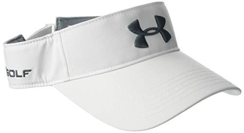 Under Armour Core Golf Visor, Visiera Uomo, Bianco (White / / Pitch Gray), Taglia Unica
