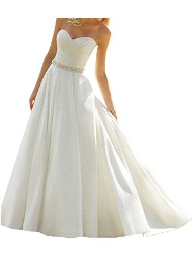 Victory Bridal Elfenbein Elegant Herzausschnitt Hochzeitskleider Brautkleider Brautmode Lang...