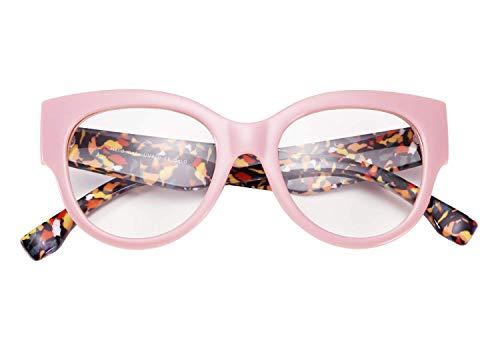 TEN-G Unisex Stylish Cat Eye Square Eyeglasses Frame Non-prescription Glasses Clear Lens Eyewear B2480 (5)