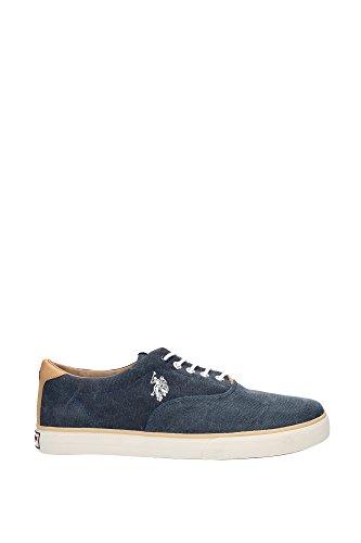 Sneakers U.S. Polo Assn. Uomo Tessuto Blu, Marrone, Bianco e Rosso DALAN7CANVASDKBL Blu 44EU
