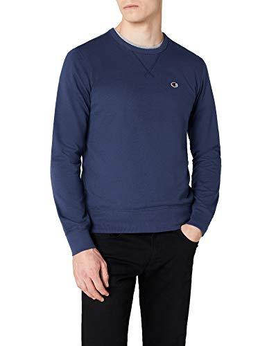 Champion Herren Crewneck C-Logo Sweatshirt, Blau (Isb), Medium