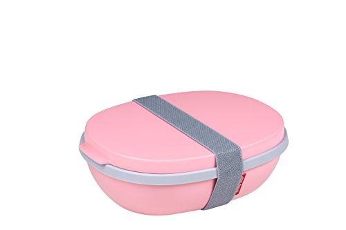Mepal lunchbox ellipse duo, Plastik, Nordic Pink, 22.5 x 17.5 x 7.5 cm