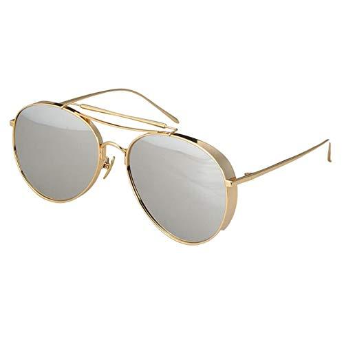 Daxiong Sonnenbrille kann mit Myopia Net Rot Brille Runde Gesicht Persönlichkeit Drive Sonnenbrille Männer und Frauen Eyewear & Zubehör,D