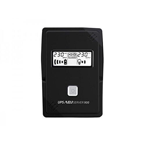ADJ 650-00900Unterbrechungsfreie Stromversorgung UPS-Unterbrechungsfreie Stromversorgung UPS (Compact, Plombierte Bleisäure (VRLA), 50/60, schwarz, LCD, Over Power, Low Voltage) Adj Lcd