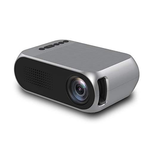 Yesmile Beamer, Mini Videobeamer unterstützt 1920 x 1080P Full HD, 400-600 Lumen, Lebensdauer der LED 30.000 Stunden, Systemunterstützung Multimedia (Musik, Bild, Video, TXT), Heimkino Beamer Weiß