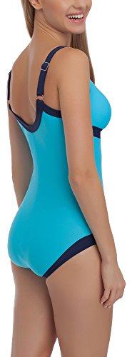 aQuarilla Damen Badeanzug AQ65 Blau/Marineblau