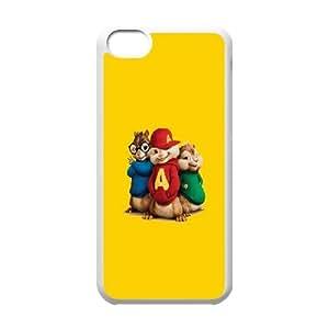 Alvin et les Chipmunks Coque iPhone 5C Coque étui de téléphone portable blanc Téléphone Case personnalisée dur H2M3XS