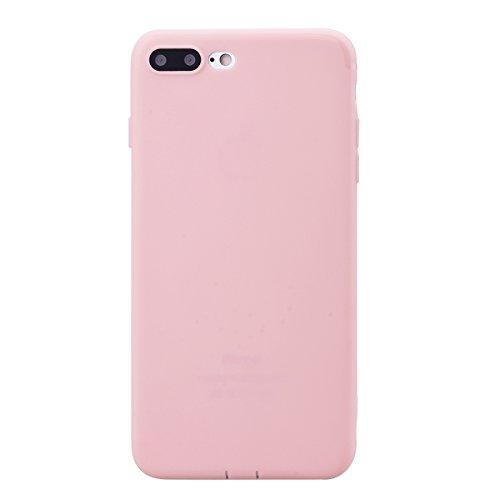 Coque iPhone 7 Plus / iPhone 8 Plus, Etui iPhone 7 Plus / iPhone 8 Plus Rose, GrandEver Coque iPhone 7 Plus / iPhone 8 PlusSilicone Souple TPU Bumper Etui Protecteur Caoutchouc Rubber Gel Cases Haute  Rose